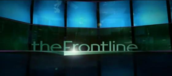 Sur le plateau de Frontline (12/12/2012)