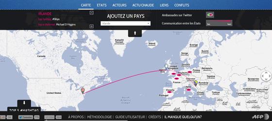 AFP lance son outil «E-diplomacy hub: Twitter et politique étrangère – la diplomatie numérique en action».