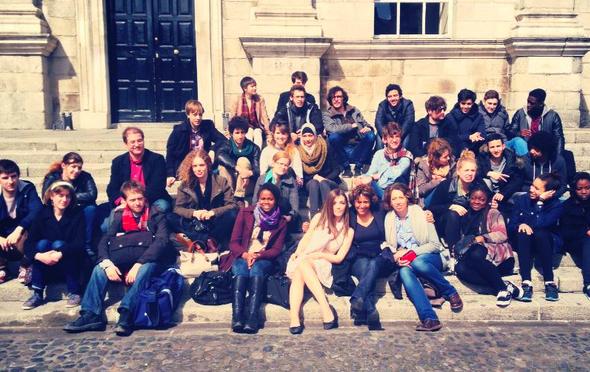 Visite des élèves du Lycée Français de Copenhague et des étudiants de Lille 3.